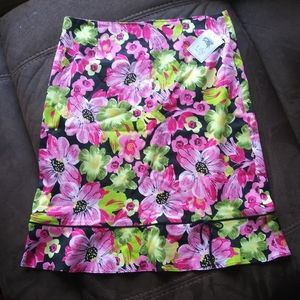 NWT Lily Floral Pinup Skirt